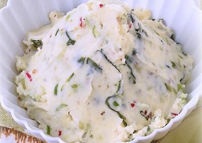 青唐辛子と野沢菜のポテトサラダ