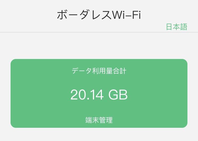 Wi-Fi使用量