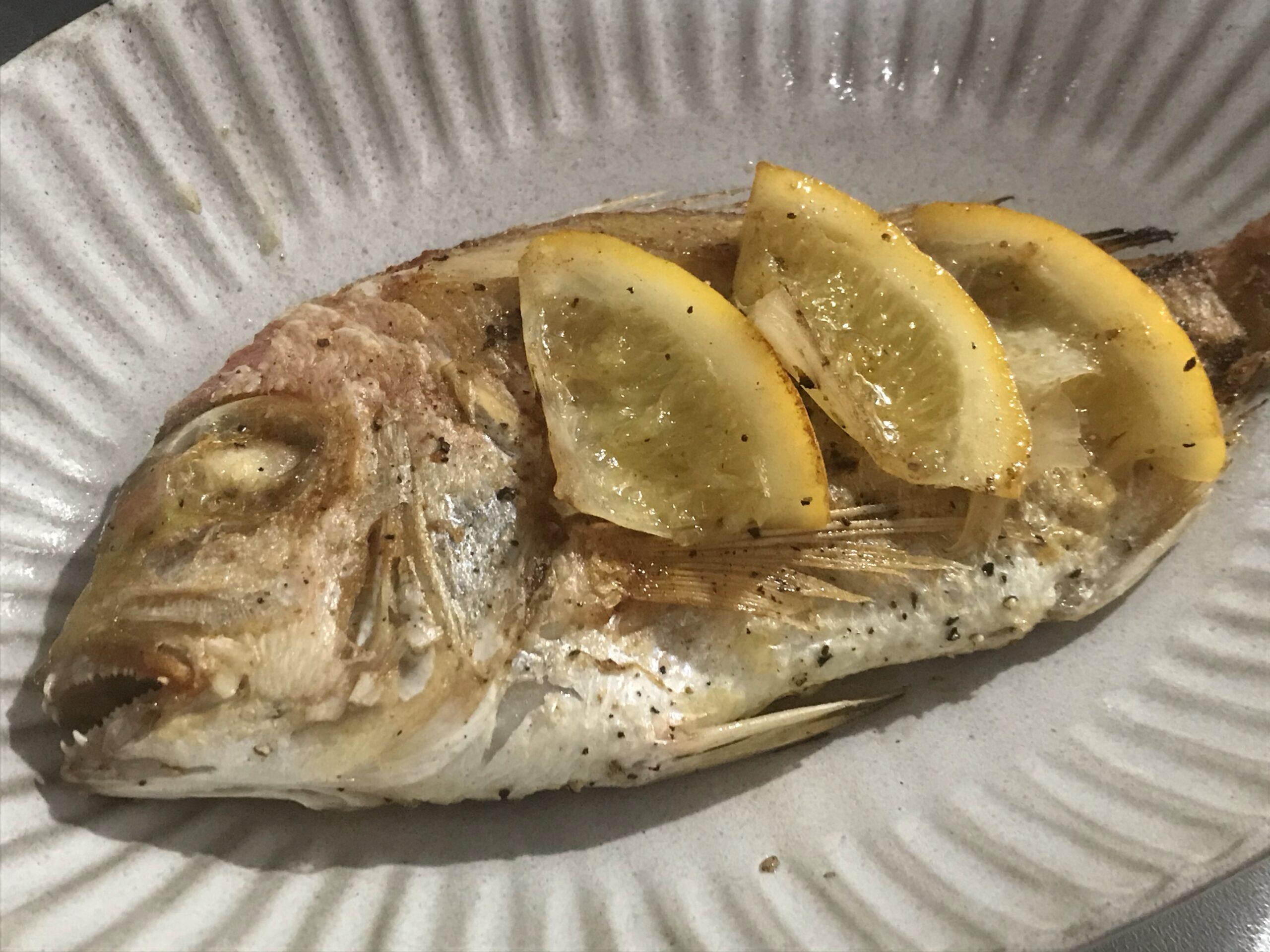 白身魚のソテー 塩レモン風味