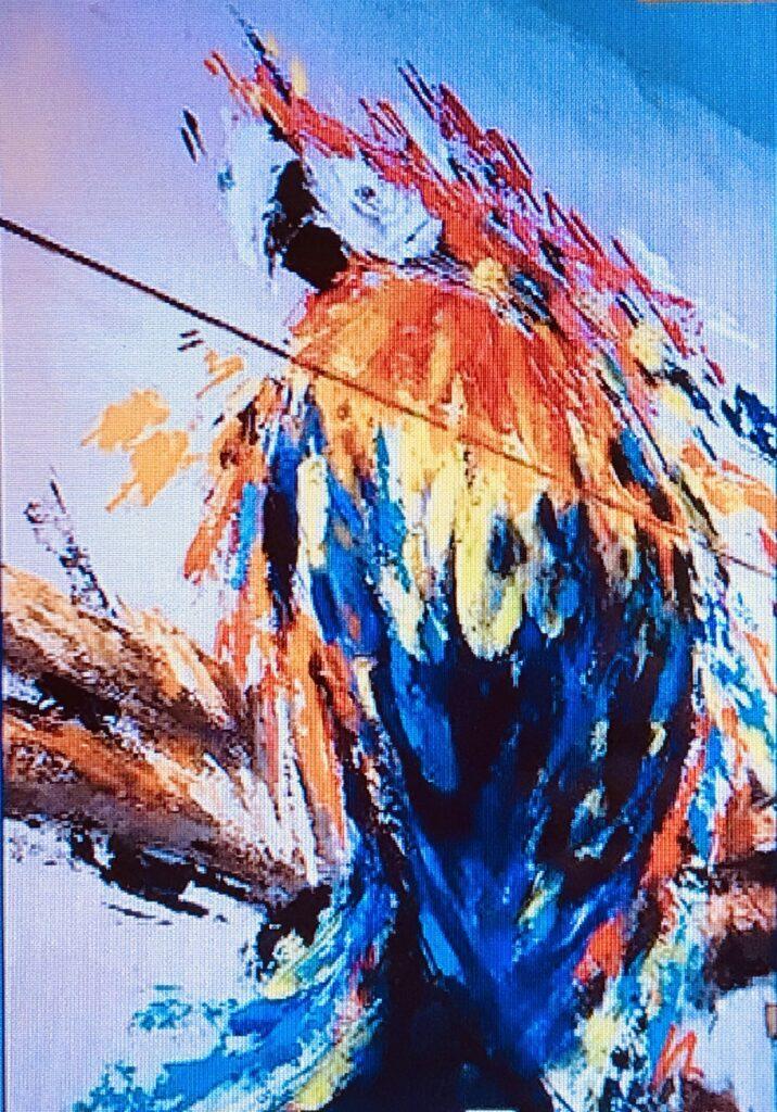 カラフルな鳥の絵