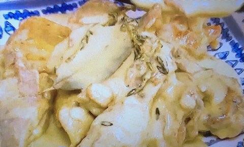 鶏のマスタード煮込み