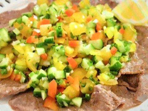 夏野菜の牛肉カルパッチョ
