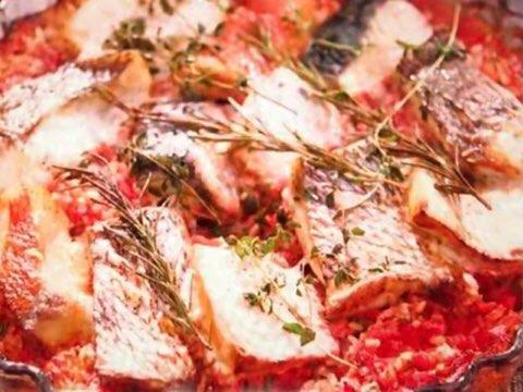 魚のトマトオーブン焼き
