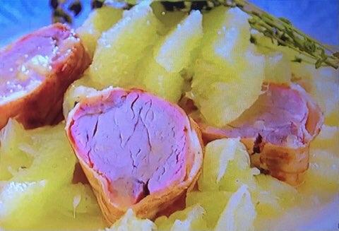 豚肉ベーコンの柑橘煮込み