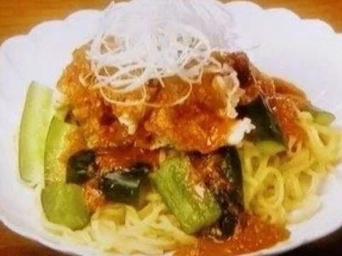 たたききゅうりのピリ辛ごまだれ麺