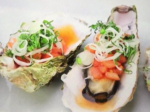 牡蠣のトマトポン酢